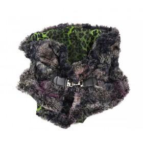 """ΚΑΣΚΟΛ - ΛΑΙΜΟΣ ΑΠΟ ΤΡΙΧΡΩΜΗ ΟΙΚΟΛΟΓΙΚΗ ΓΟΥΝΑ ΜΕ ΜΕΤΑΛΛΙΚΟ ΚΟΥΜΠΩΜΑ """"alexandRA-INwinter"""" Collection"""