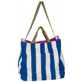 "BAG REVERSIBLE IN NAVY & FLORAL PRINT  ""alexSANDra on the beach"""