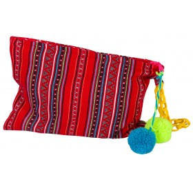 """HANDWOVEN RED CLUTCH WITH ZIPPER """"alexSANDra on the beach"""""""