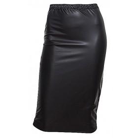 Φούστα ελαστική από μαύρη δερματίνη ''alexandRA-INwinter''