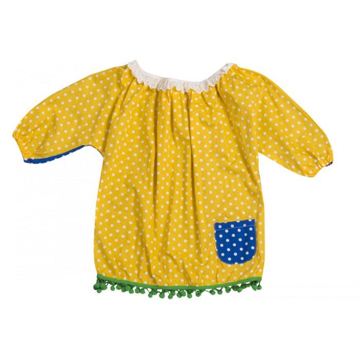 09c36fc24334 Μπλουζα   τουνικ εξω ωμοι πουα διχρωμη μπλε κίτρινο με πον πον