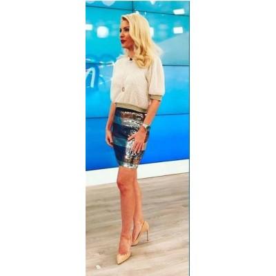 """Η Ελένη Μενεγάκη στην εκπομπή της, """"Ελένη"""", με total outfit από τη συλλογή της Αλεξάνδρας Κατσαΐτη - Yupiii.gr & Missbloom.gr"""