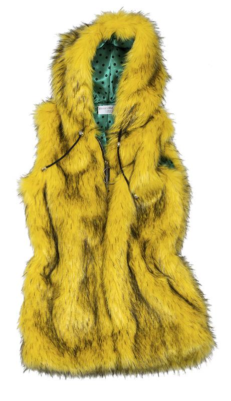 """ΓΙΛΕΚΟ ΚΙΤΡΙΝΟ ΑΠΟ ΟΙΚΟΛΟΓΙΚΗ ΓΟΥΝΑ ME ΠΟΥΑ ΕΠΕΝΔΥΣΗ """"alexandRA-IN winter&q γυναικειa   παλτο   πανοφωρια   ζακετεσ   γιλεκα"""