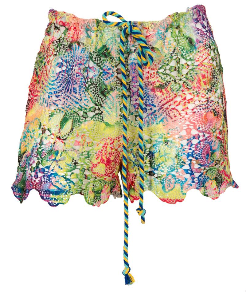 """ΣΟΡΤΣ ΑΠΟ ΠΟΛΥΧΡΩΜΗ ΔΑΝΤΕΛΛΑ ΜΕ ΚΟΡΔΟΝΙ ΣΤΗΝ ΜΕΣΗ & ΕΠΕΝΔΥΣΗ """"alexSANDr beachwear   σορτσ   παντελονια   φορμεσ"""