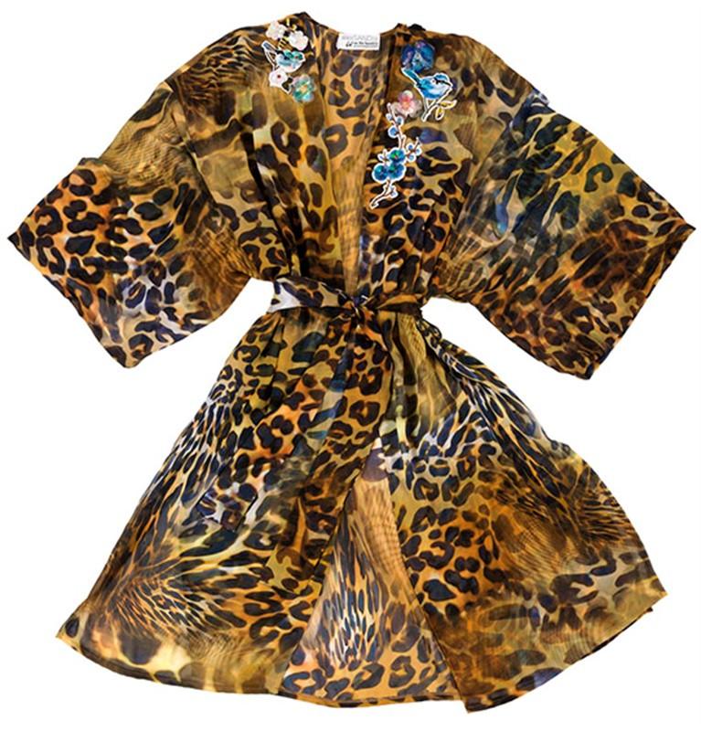 """ΚΙΜΟΝΟ ΛΕΟΠΑΡ ΜΕ ΜΟΤΙΦ """"alexSANDra ON THE BEACH"""" γυναικειa   εσαρπεσ   καπεσ   ποντσο   kimono"""