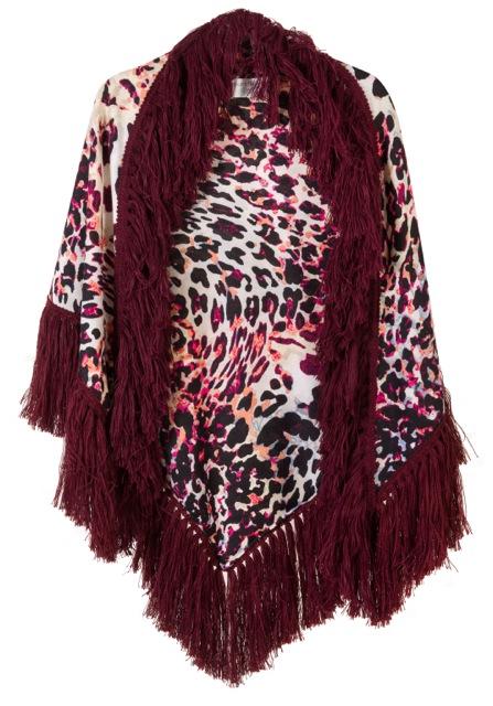 """ΕΣΑΡΠΑ/ΣΑΛΙ ΛΕΟΠΑΡ ΜΕ ΜΠΟΡΝΤΩ ΜΑΛΛΙΝΑ ΚΡΟΣΙΑ """"alexandRA-IN winter"""" γυναικειa   εσαρπεσ   καπεσ   ποντσο   kimono"""