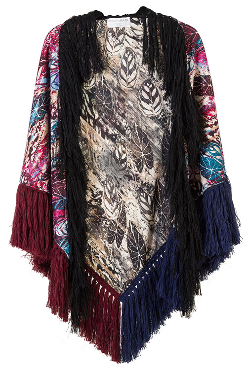 """ΕΣΑΡΠΑ ΣΑΛΙ ΕΜΠΡΙΜΕ ΔΥΟ ΟΨΕΩΝ ΜΕ ΜΠΟΡΝΤΟ, ΜΑΥΡΑ, ΜΠΛΕ ΚΡΟΣΙΑ """"alexandRA-IN  γυναικειa   εσαρπεσ   καπεσ   ποντσο   kimono"""