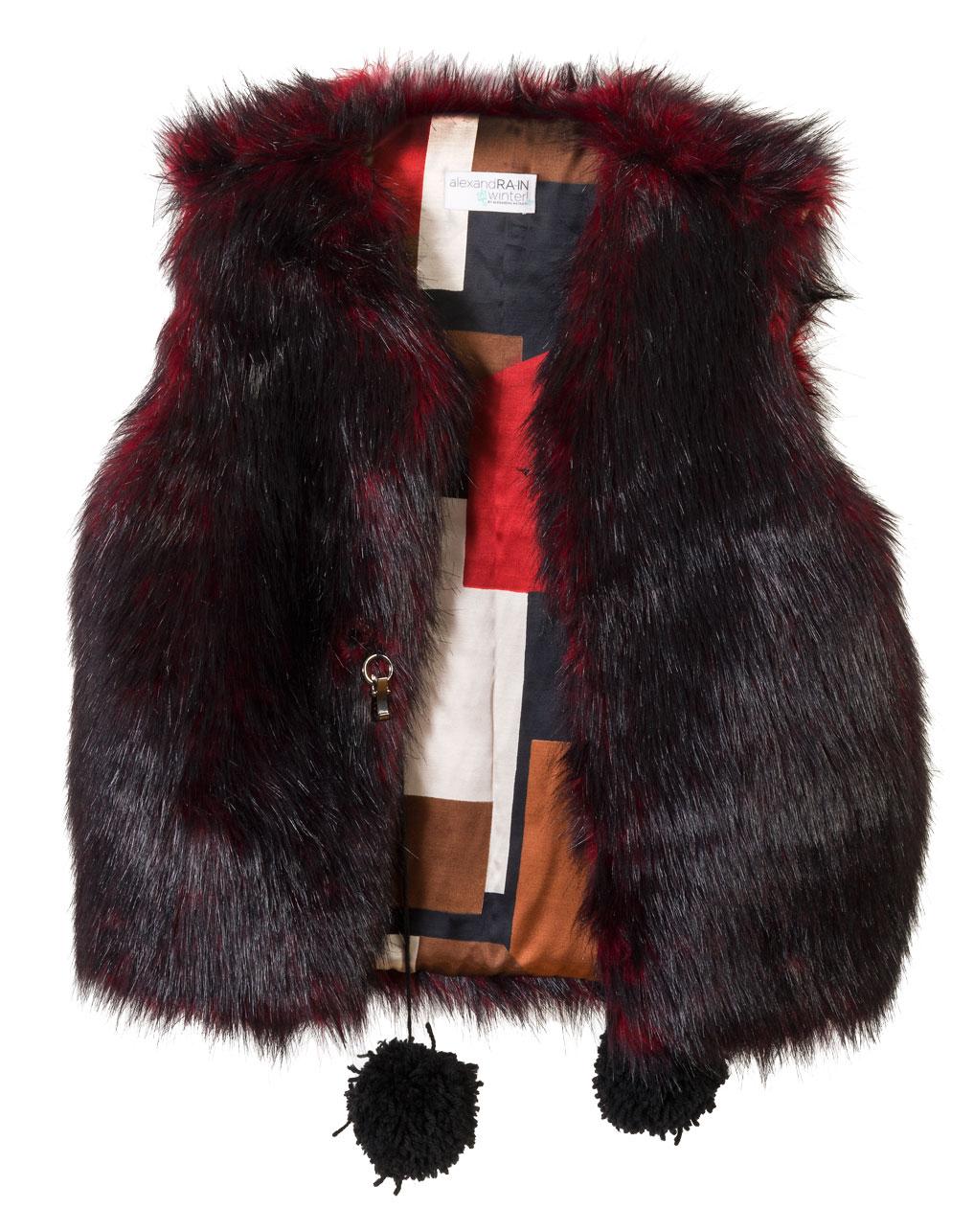 """ΓΙΛΕΚΟ ΚΟΚΚΙΝΟ/ΜΑΥΡΟ ΑΠΟ ΟΙΚΟΛΟΓΙΚΗ ΓΟΥΝΑ """"alexandRA-INwinter"""" γυναικειa   παλτο   πανοφωρια   ζακετεσ   γιλεκα"""